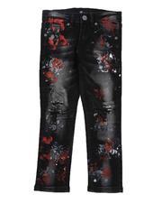 Bottoms - Paint Splatter Washed Jeans (4-7)-2549825