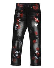 Arcade Styles - Paint Splatter Washed Jeans (8-18)-2549835