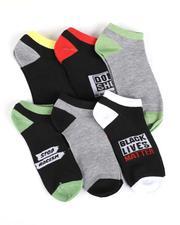 DRJ SOCK SHOP - 6Pk Black Lives Matter Ankle Socks-2550221