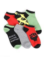 Buyers Picks - 6Pk Black Lives Matter Ankle Socks-2550222