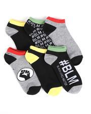 DRJ SOCK SHOP - 6Pk Black Lives Matter Ankle Socks-2550223