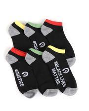 Buyers Picks - 6Pk Black Lives Matter Ankle Socks-2550224