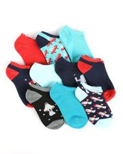 Arcade Styles - 10Pk Ankle Space Socks-2550227