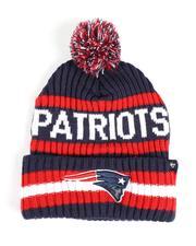 '47 - New England Patriots Bering 47 Cuff Knit Pom Beanie-2550828