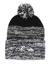 NBA, MLB, NFL Gear - Baltimore Ravens Static Cuff Knit Beanie-2550829