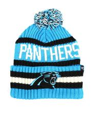 Hats - Carolina Panthers Glacier Bering 47 Cuff Knit Pom Beanie-2550830