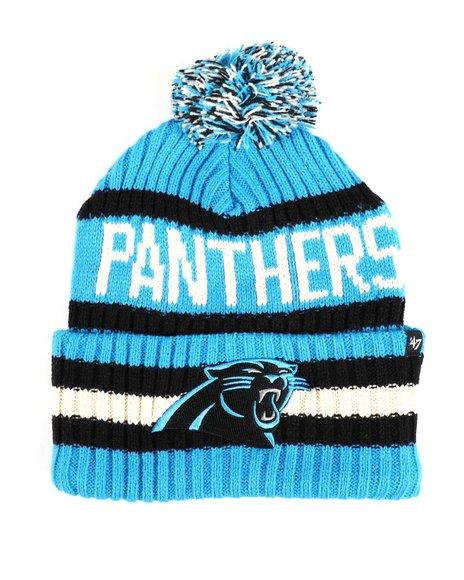 '47 - Carolina Panthers Glacier Bering 47 Cuff Knit Pom Beanie