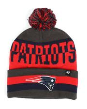 Hats - New England Patriots Split Text 47 Cuff Pom Beanie-2550831