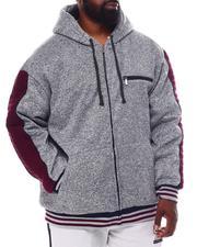 Light Jackets - Marled Moto Stitch Zip Up Hoodie (B&T)-2546042