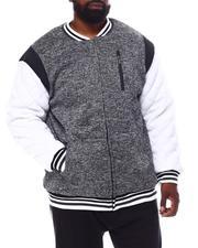 Light Jackets - Color Block Fleece Varsity Jacket (B&T)-2546066