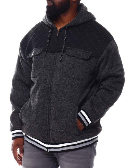Buyers Picks - Neoprene Pieced Zip Up Fleece Hoodie (B&T)