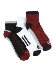 Accessories - 3 Pack 1/2 Cushion Quarter Socks-2550216