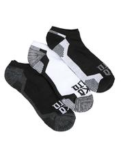 DRJ SOCK SHOP - 3 Pack 1/2 Cushion No Show Socks-2550219