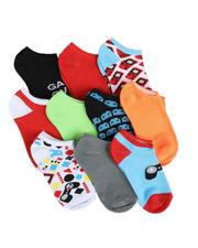 Arcade Styles - 10Pk Ankle Video Game Socks (4-6.5)-2550225