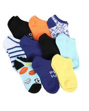 Arcade Styles - 10Pk Ankle Video Game Socks (4-6.5)-2550226