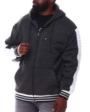 Light Jackets - Marled Moto Stitch Zip Up Hoodie (B&T)-2546148