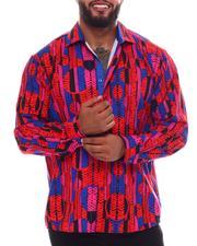 Buyers Picks - Geometric Button Down Long Sleeve Shirt (B&T)-2546101