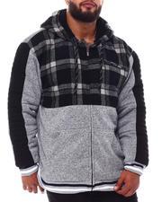 Light Jackets - Flannel Color Block Zip Up Hoodie (B&T)-2546224