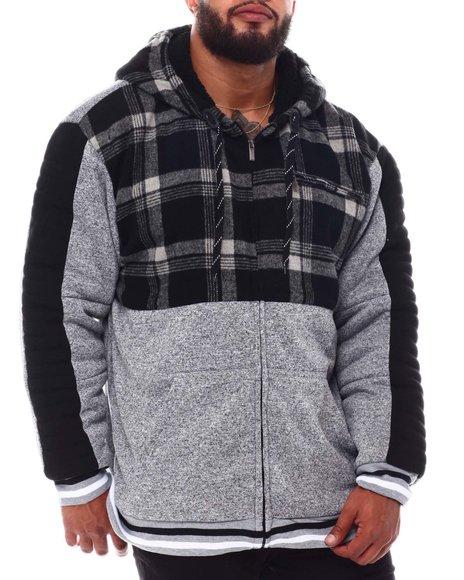 Buyers Picks - Flannel Color Block Zip Up Hoodie (B&T)