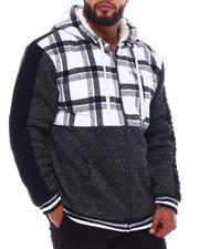Light Jackets - Flannel Color Block Zip Up Hoodie (B&T)-2546276