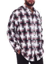 Sean John - Long Sleeve Geo Plaid Shirt (B&T)-2551219