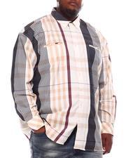 Buyers Picks - Multi Color Plaid Long Sleeve Woven Shirt (B&T)-2551783