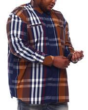 Buyers Picks - Multi Color Plaid Long Sleeve Woven Shirt (B&T)-2551787