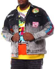 Born Fly - Laguardia Dip Dye Denim Jacket (B&T)-2550579