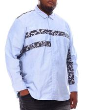 Big & Tall Faves - Long Sleeve Paisley Patch Oxford Shirt (B&T)-2551904