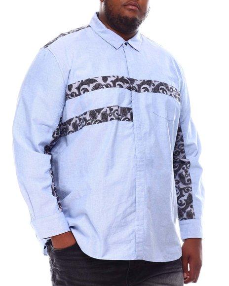 Sean John - Long Sleeve Paisley Patch Oxford Shirt (B&T)