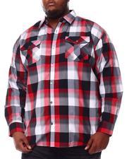 Button-downs - Yarn Dyed Plaid Woven Shirt (B&T)-2552001