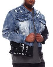 Denim Jackets - Graffiti Paint Splatter Demim Jacket (B&T)-2541924