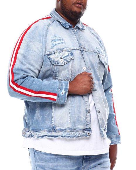 Jordan Craig - Distressed Side Stripe Denim Jacket (B&T)