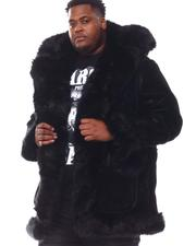 Big & Tall Faves - Faux Suede Bonded Shearling With Faux Fur (B&T)-2551684