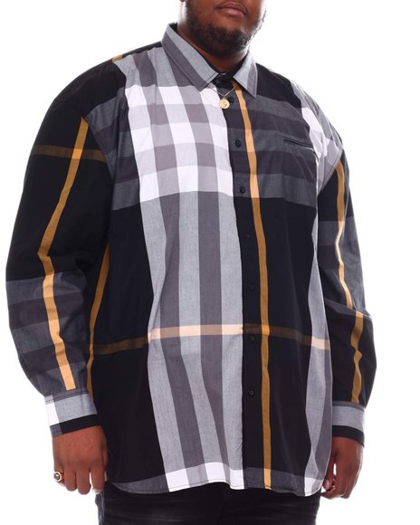 Buyers Picks - Multi Color Plaid Long Sleeve Woven Shirt 6X-8X (B&T)