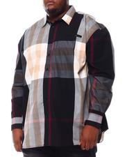 Big & Tall Faves - Multi Color Plaid Long Sleeve Woven Shirt 6X-8X (B&T)-2551847