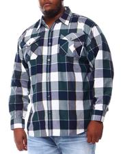 Big & Tall Faves - Yarn Dyed Plaid Woven Shirt (B&T)-2551893