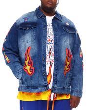 Big & Tall Faves - Franks Fuego Red Hot Denim Jacket (B&T)-2550583