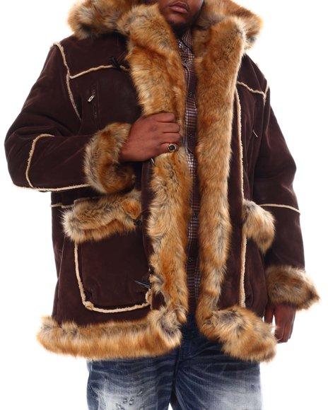 Jordan Craig - Faux Suede Bonded Shearling With Faux Fur (B&T)
