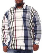 Buyers Picks - Multi Color Plaid Long Sleeve Woven Shirt (B&T)-2551779