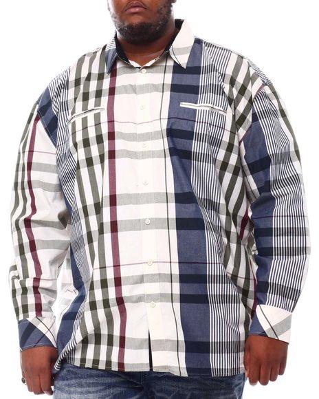 Buyers Picks - Multi Color Plaid Long Sleeve Woven Shirt (B&T)