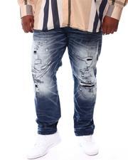 Big & Tall Faves - Washed Distressed Denim Jeans (B&T)-2552030