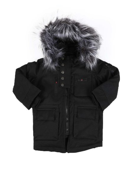 Arcade Styles - Glacier Heavyweight Parka W/ Faux Fur Trim Hood (2T-4T)