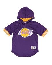 Mitchell & Ness - Los Angeles Lakers Unbeaten Mesh Hoody (8-20)-2550166