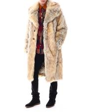 Men - Vegan Fur Coat w Lapel-2551842