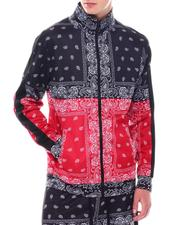 Track Jackets - Bandana Print Track Jacket-2550990