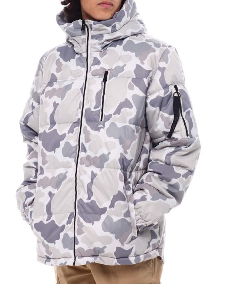 Members Only - Snow Camo SHERPA LINED Puffer