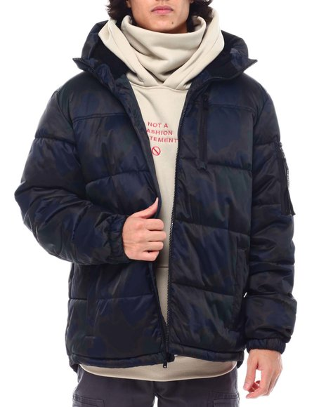 Members Only - Camo SHERPA LINED Puffer