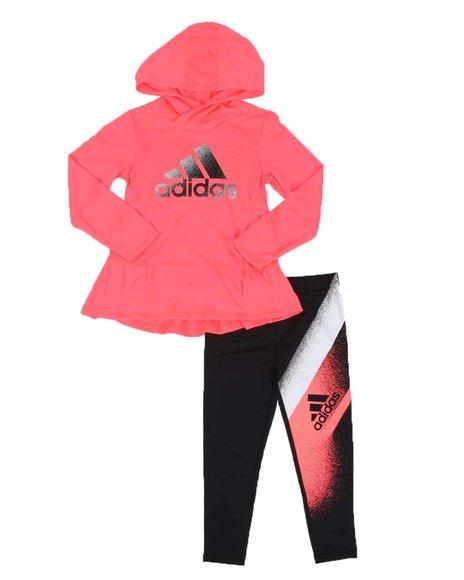 Adidas - 2 Pc Hooded Top & Legging Set (2T-6X)