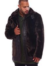 Big & Tall Faves - Faux Fur Coat (B&T)-2552012